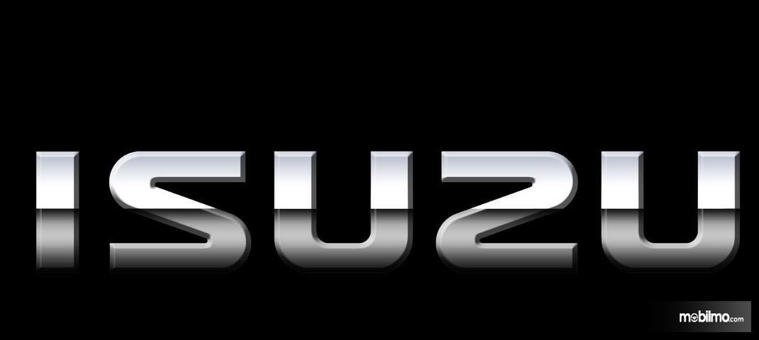 Gambar ini menunjukkan logo tulisan ISUZU