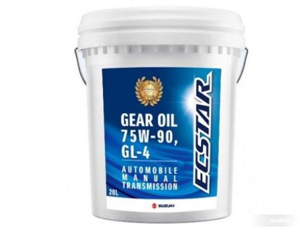 Gambar ini menunjukkan gear oil 75W-90, API GL-4 dalam ember 20 liter