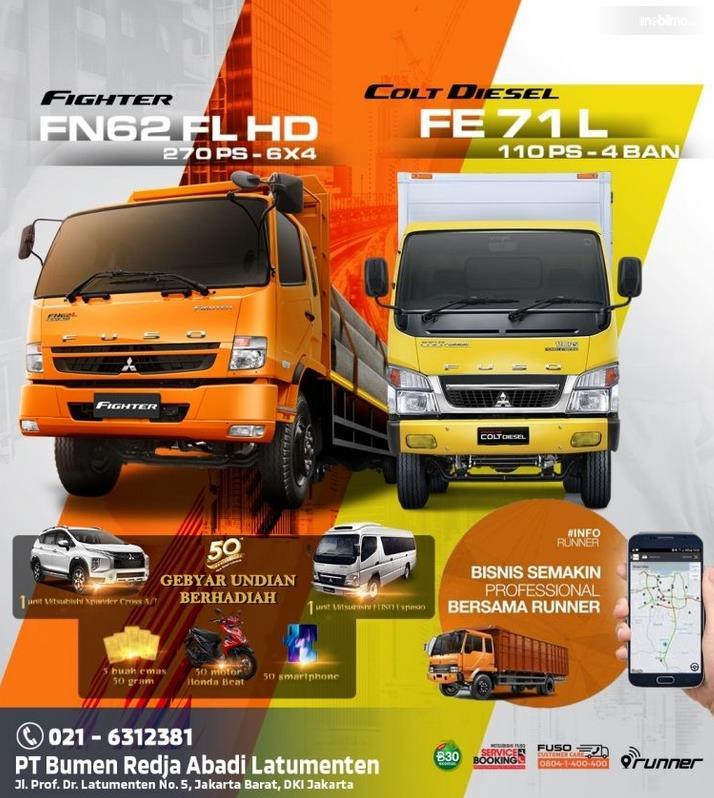 Gambar ini menunjukkan brosur terkait promo khusus Mitsubishi