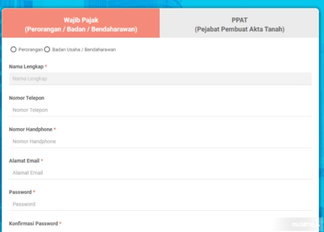 Gambar ini menunjukkan website pajakonline.jakarta.go.id