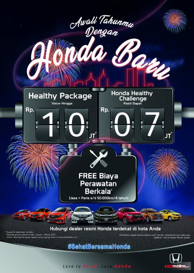 gambar ini menunjukkan program yang ditawarkan pihak Honda