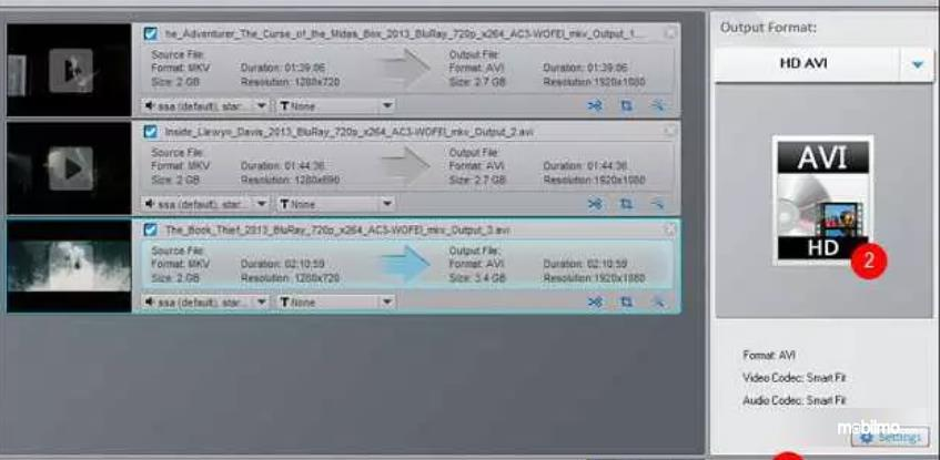 Gambar ini menunjukkan ilustrasi untuk konversi format video