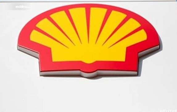 Gambar ini menunjukkan logo Shell dengan warna merah dan kuning