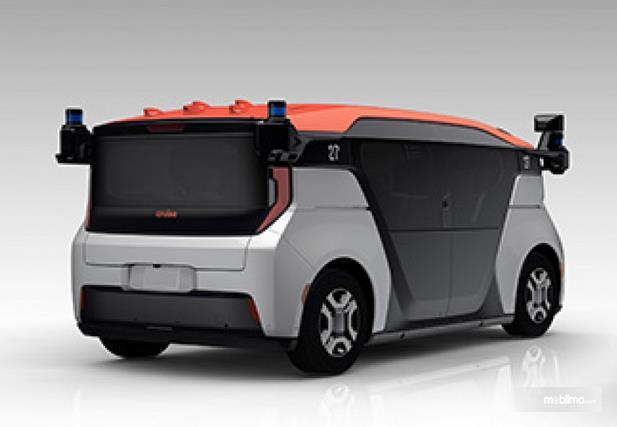 Gambar ini menunjukkan mobil otonom hasil dari kolaborasi 3 perusahaan