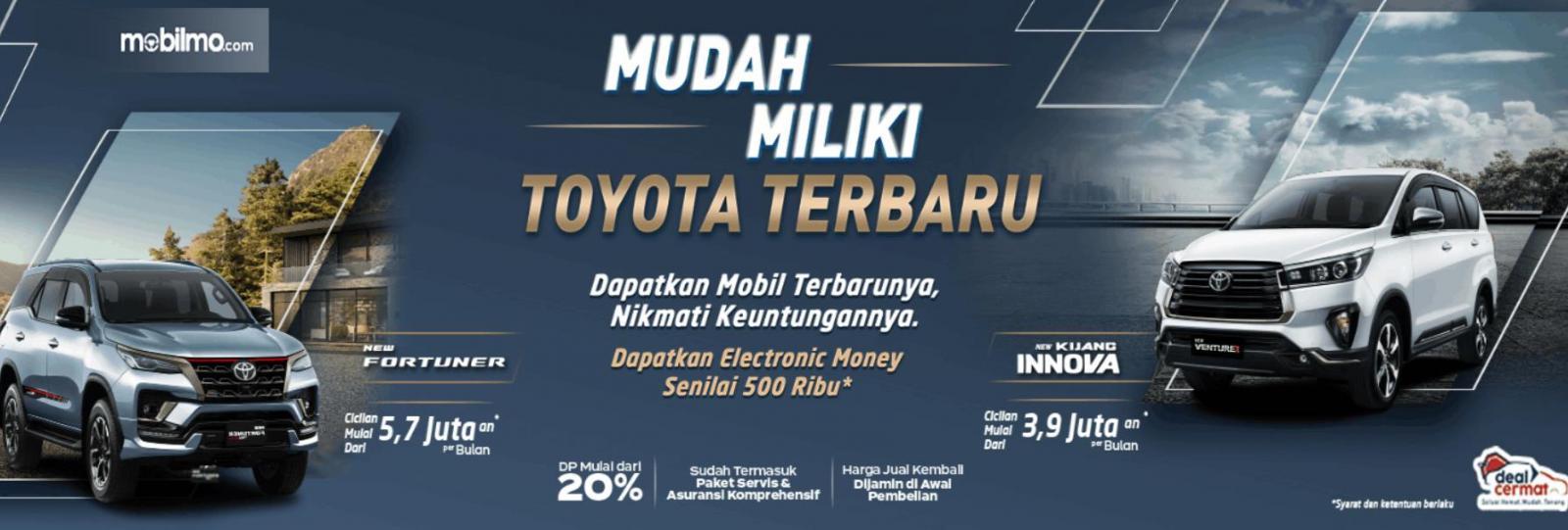 gambar  ini menunjukkan brosur terkait promo deal cermat Toyota