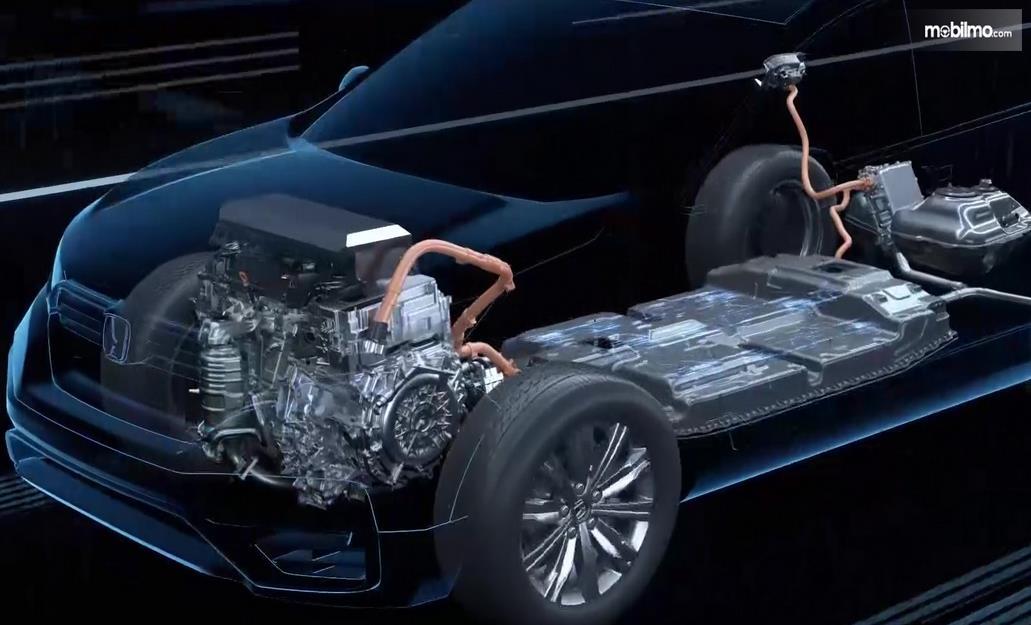 Gambar i ni menunjukkan ilustrasi baterai mobil listrik
