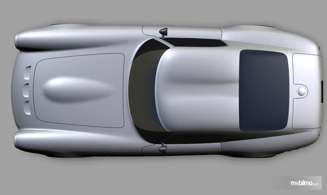 Gambar ini menunjukkan replika mobil Mobil Ferrari 250 GTO Moderna tampak atas