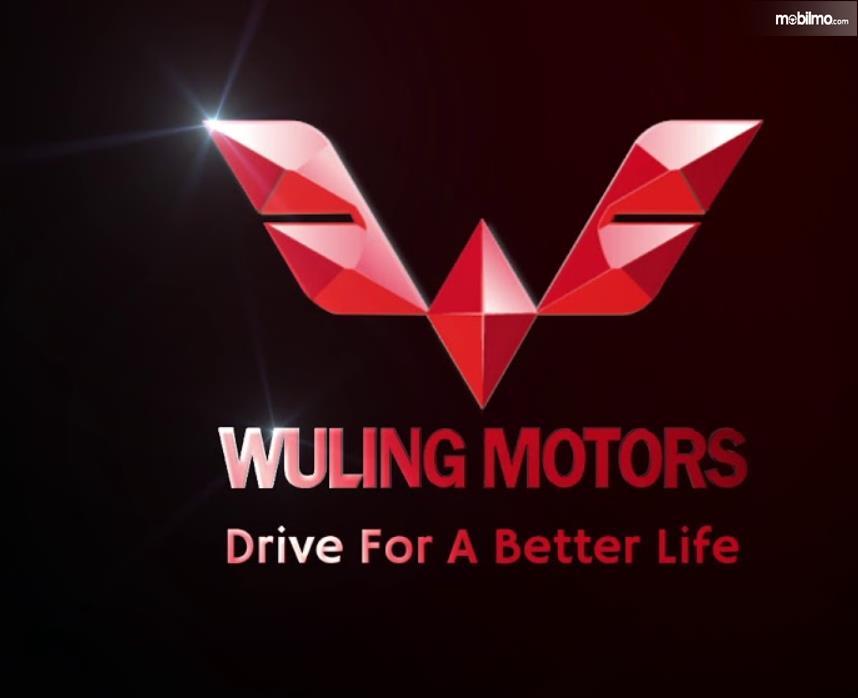 Gambar ini menunjukkan logo Wuling dengan warna merah