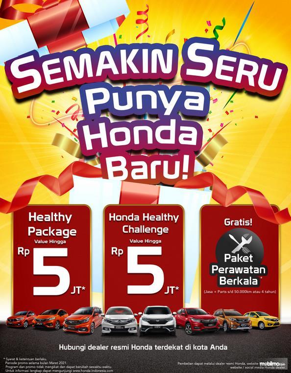 Gambar ini menunjukkan brosur program menarik Honda