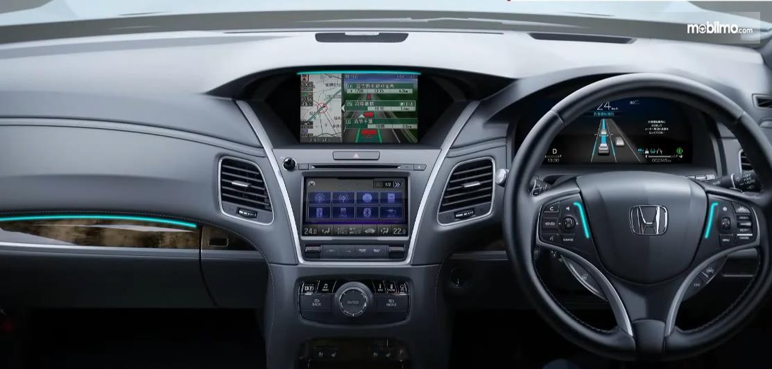 GAmbar ini menunjukkan interior All New Honda Legend Hybrid EX