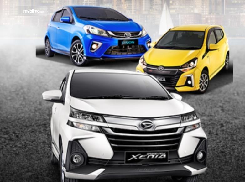 Gambar ini menunjukkan beberapa model Daihatsu Toyota