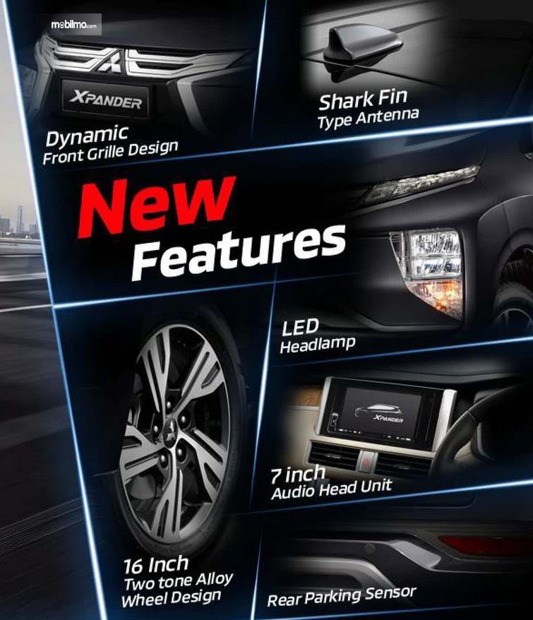 Gambar ini menunjukkan beberapa fitur pada Mitsubishi Xpander