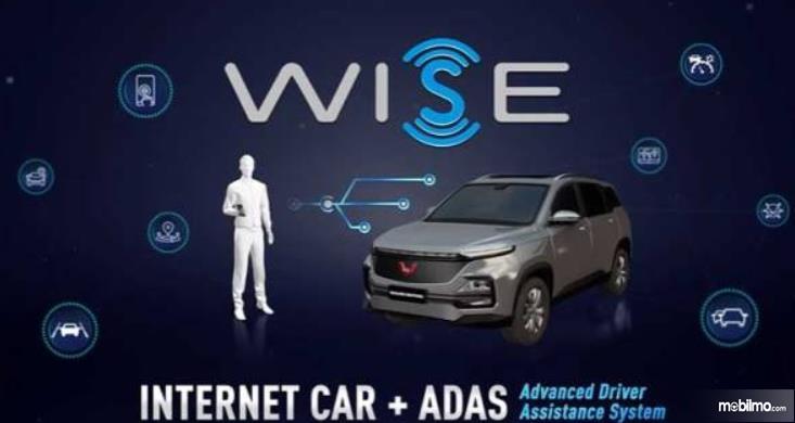 Gambar ini menunjukkan ilustrasi teknologi WISE pada mobil