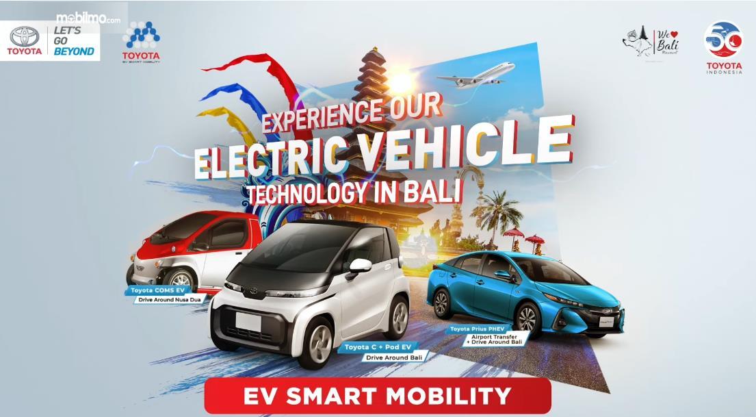 Gambar ini menunjukkan info layanan EV Smart Mobility di Bali