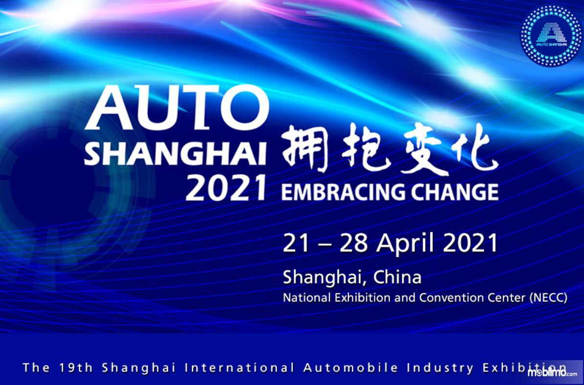 Gambar ini menunjukkan selebaran Auto Sanghai 2021