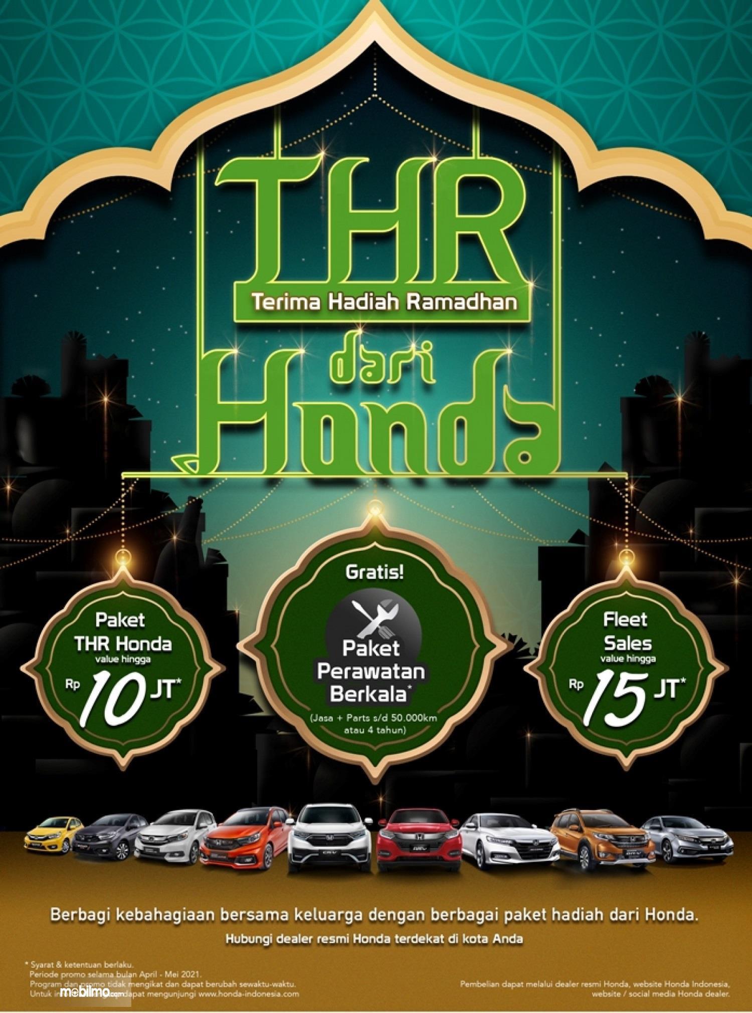 Gambar banner Promo THR dari Honda 2021