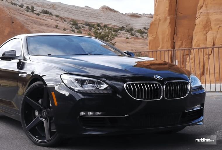 Gambar ini menunjukkan bagian depan BMW 640i Coupe 2012