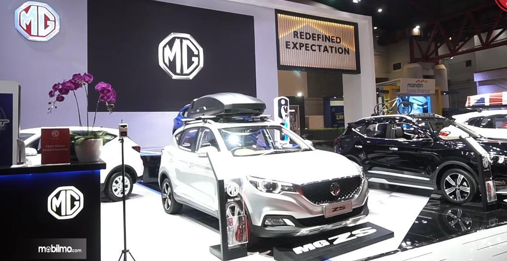 Gambar ini menunjukkan Booth MG dalam IIMS Hybrid 2021