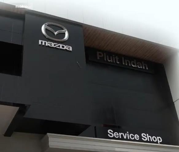 Gambar ini menunjukkan sedikit tampilan Dealer Mazda Pluit Indah Jakarta Utara
