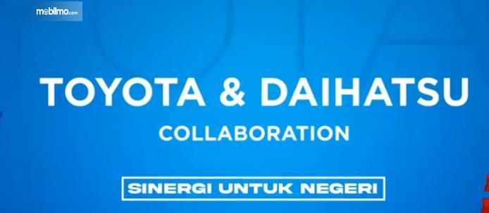 Gambar ini menunjukkan pembukaan event Toyota & Daihatsu Collaboration Sinergi Untuk Negeri