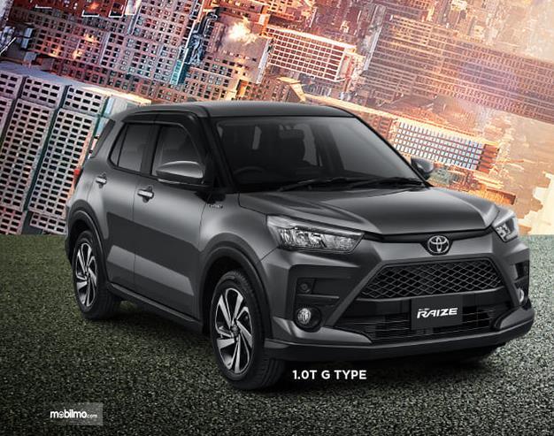 Gambar ini menunjukkan bagian depan Toyota Raize 1.0T  G 2021