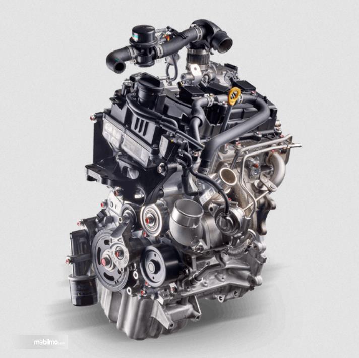 Gambar ini menunjukkan mesin Daihatsu Rocky