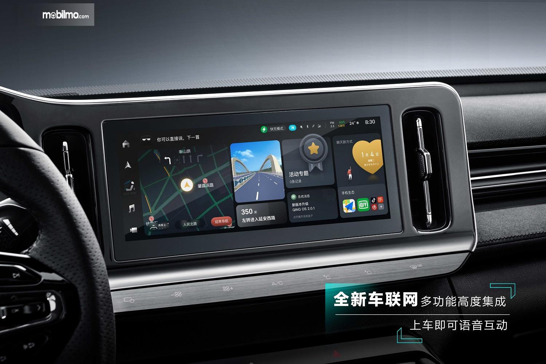 Foto Dashboard Baojun Valli lengkap dengan layar sentuh 10,25 inchi