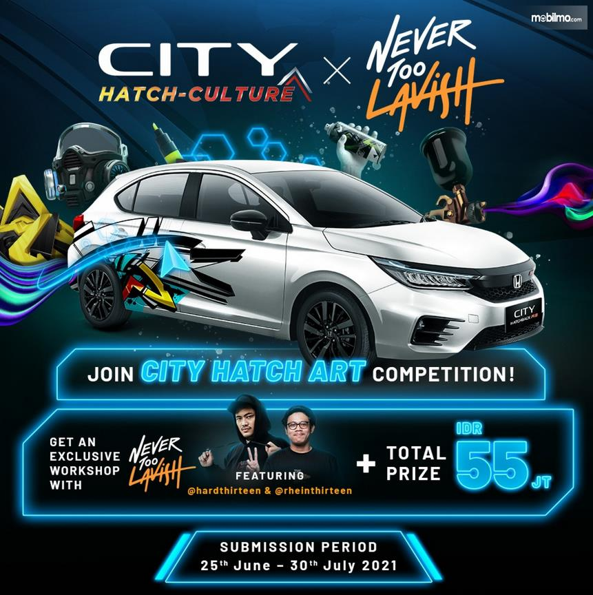 Gambar ini menunjukkan brosur kompetisi join hatch art