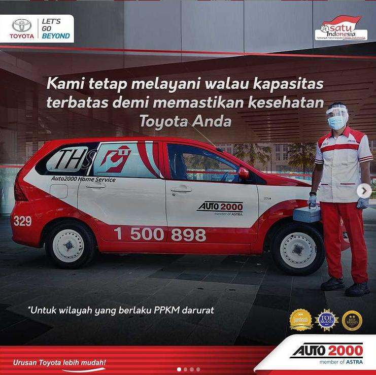 Gambar ini menunjukkan informasi terkait bengkel Auto2000