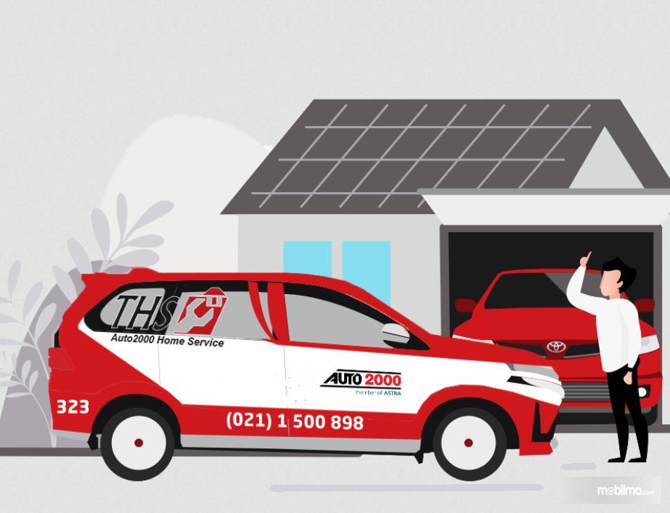 Gambar ini menunjukkan ilustrasi layanan THS Home Service Auto2000