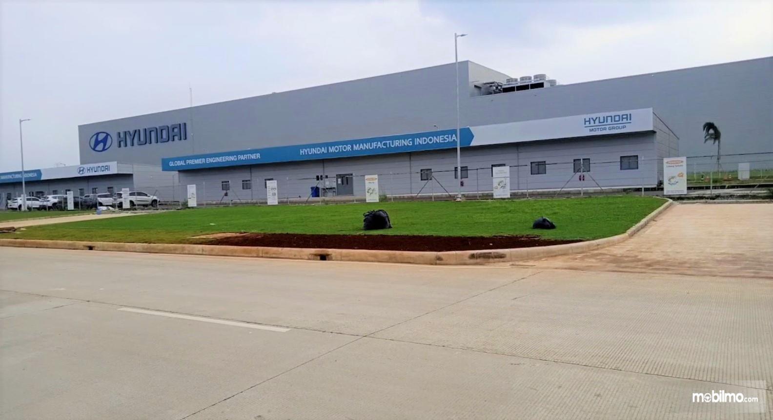 Foto menunjukkan Pabrik Hyundai di Cikarang Bekasi Jawa Barat