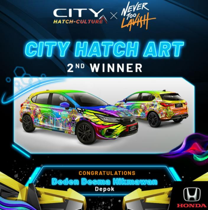 Gambar ini menunjukkan juara 2 di kompetisi City Hatch Art