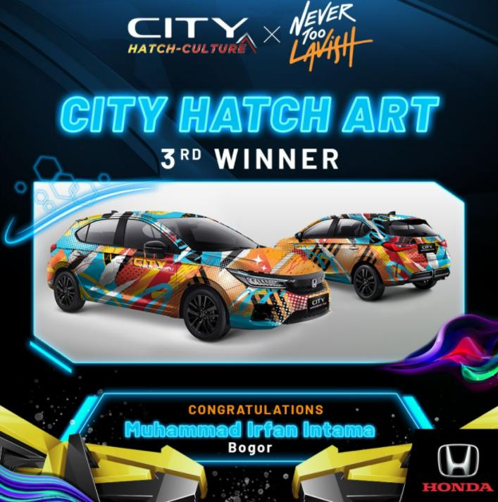 Gambar ini menunjukkan juara 3 pada kompetisi City Hatch Art