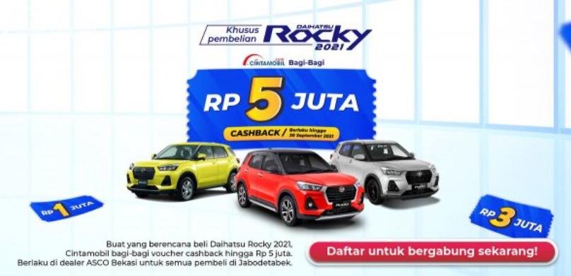 Gambar ini menunjukkan promo daihatsu Rocky dari Cintamobil