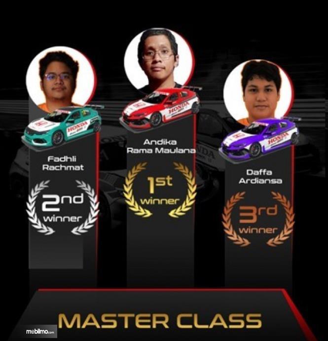 Gambar ini menunjukkan pemenang HRSC 2 kelas Master
