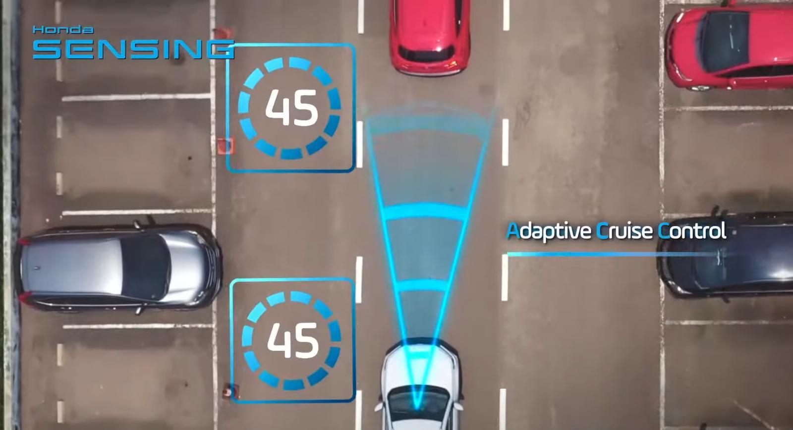 Gambar ini menunjukkan ilustrasi salah satu fitur pada teknologi Honda Sensing All New Honda BR_V