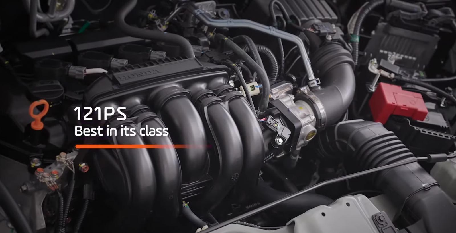Gambar ini menunjukkan mesin mobil All New Honda BR-V