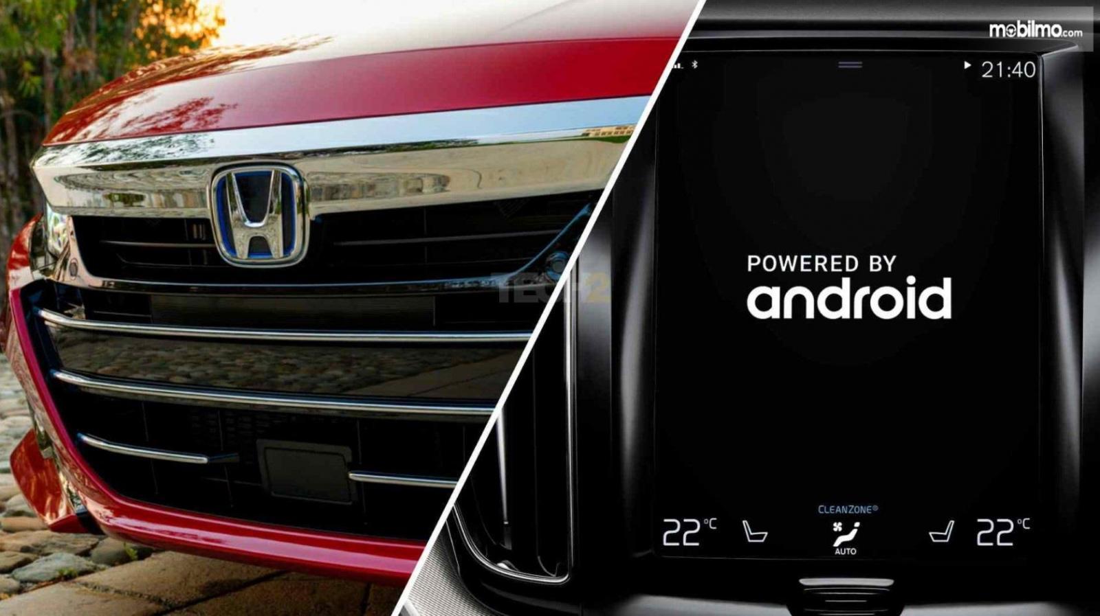 iLustrasi kerjasama Honda - Google