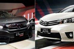 Perbandingan Honda Civic Turbo Vs Toyota Corolla Altis - Spesifikasi Dan Harga