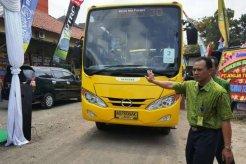 15 Unit Hino Bus FB 130 Warna Meriah Jadi Armada Baru Trans Jogja