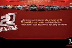 Ulang Tahun ke 20, PT Honda Prospect Motor Bagi-Bagi Emas dan Uang Elektronik