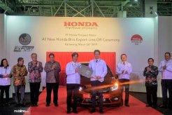 Ekspor Perdana All New Honda Brio Tandai Usia ke-20 Honda Prospect Motor (HPM) di Indonesia