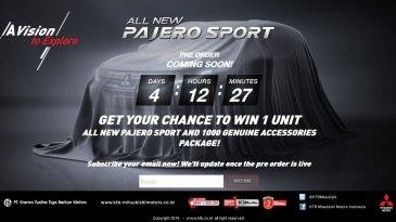 Indent All New Pajero Sport 2016 – Dapatkan All New Pajero Sport Secara Gratis