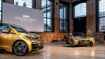 Super Eksklusif, BMW Ciptakan i3 dan i8 STARLIGHT Edition Berlapis Emas 24 Karat