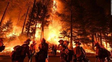 Kebakaran Hebat di Bagian Utara California Terjadi Karena Ban Kempes