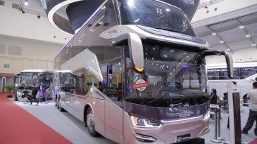 Ini Harga Bus Tingkat Legacy SR2 Double Decker Yang Tampil Mewah Di GIIAS 2018