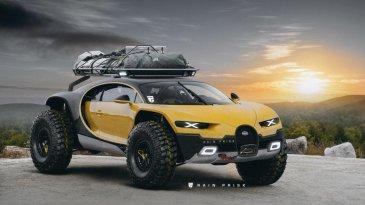 Didesain ala Off Road, Bugatti Chiron Ini Siap Melahap Berbagai Medan