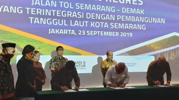 PPJT Diteken, Jalan Tol Semarang-Demak 27 Km Segera Digarap