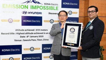 Ditest Naik Gunung, Hyundai Kona Electric Raih GUINNESS WORLD RECORDS