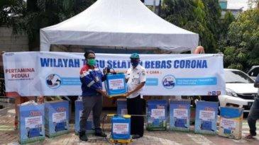 Pertamina Lubricants Ikut Cegah Corona Dengan Bagikan Wastafel Portable Dan Desinfektan